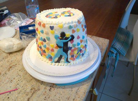 Rainbow cake con crema di yogurt e mascarpone