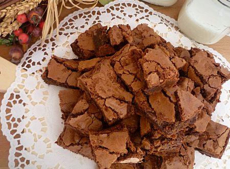 Brownies al supercioccolato fondente e al latte