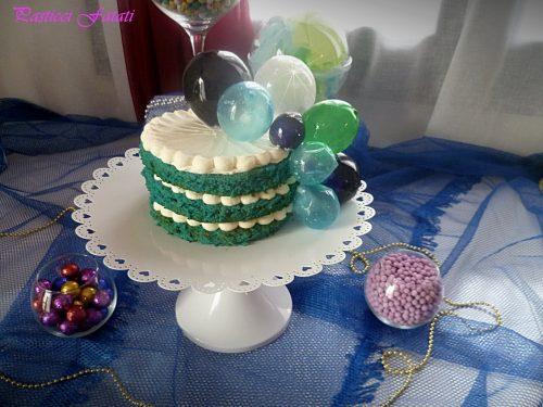 Inside out: blue velvet alla crema di mascarpone e bolle di gelatina