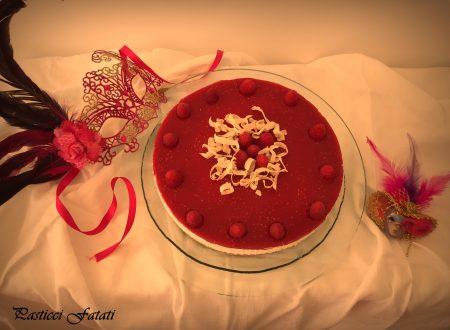 Cheesecake con ricotta e gelé di lamponi