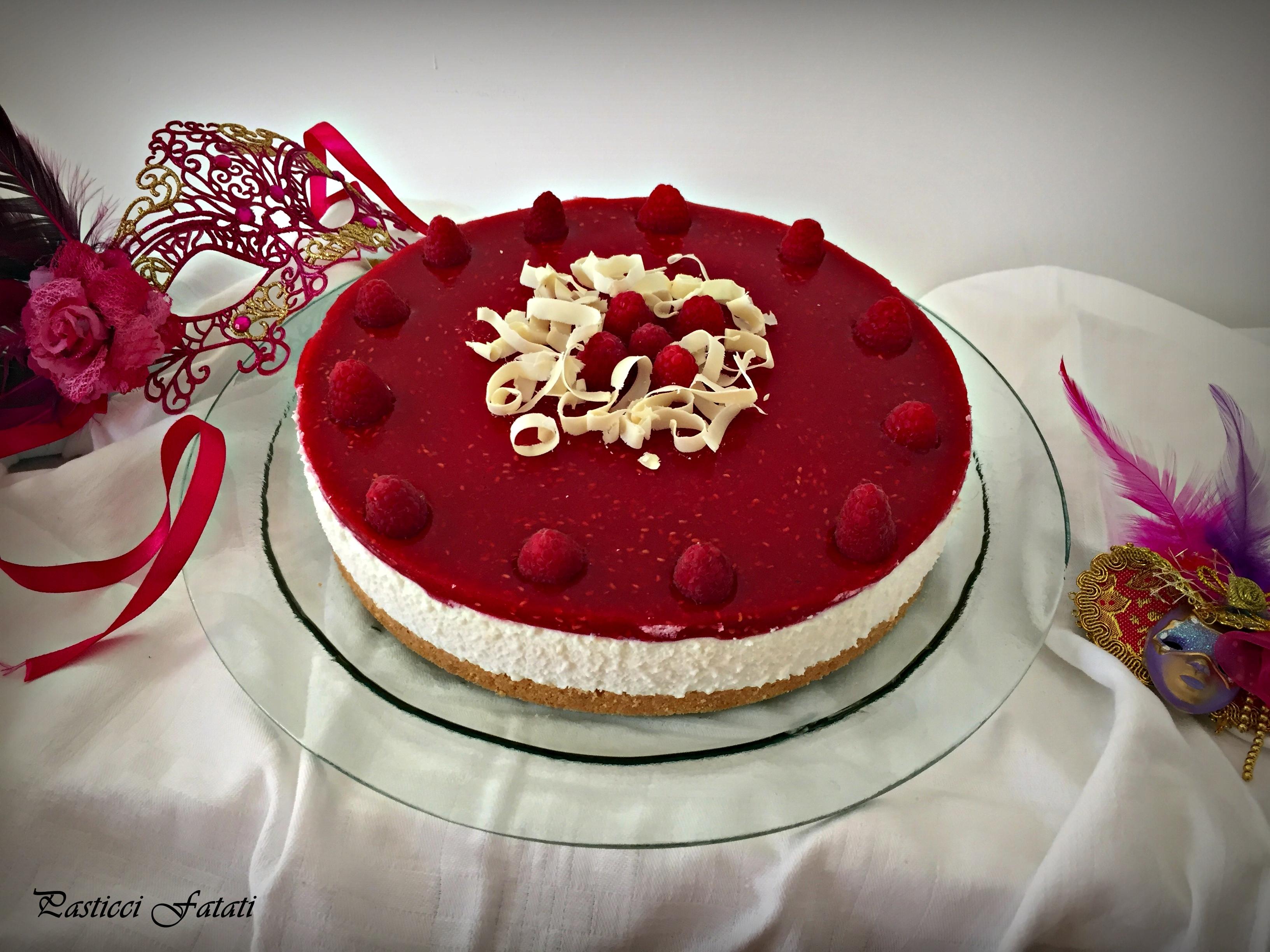 cheesecake-lamponi-pf Cheesecake con ricotta e gelé di lamponi