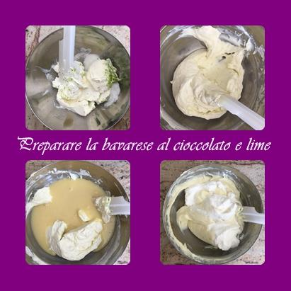 preparare-al-bavarese Batticuore al cioccolato bianco lime e frutti di bosco