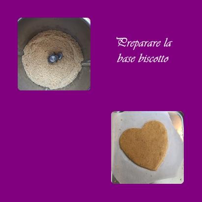 preparare-la-base-biscotto Batticuore al cioccolato bianco lime e frutti di bosco