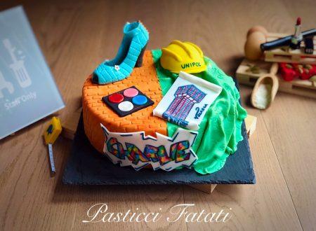 Fashion vs Building site cake
