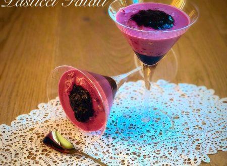 Bicchieri ai mirtilli (Bavarese light)