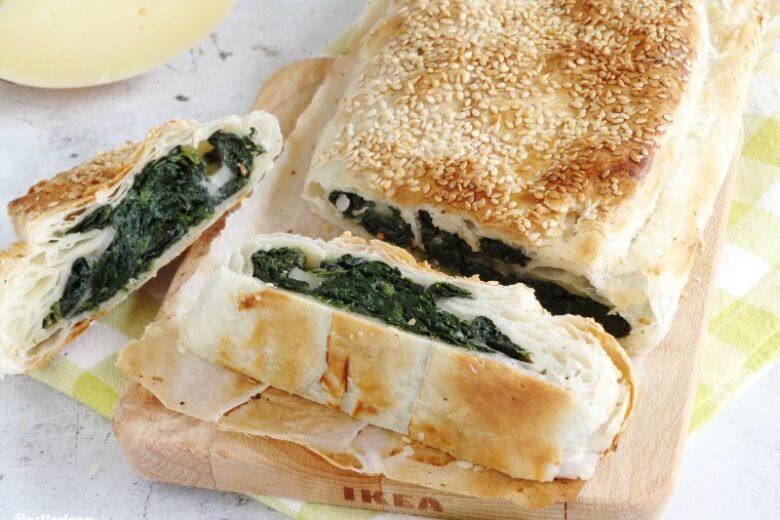 Strudel salato Spinaci e Provolone
