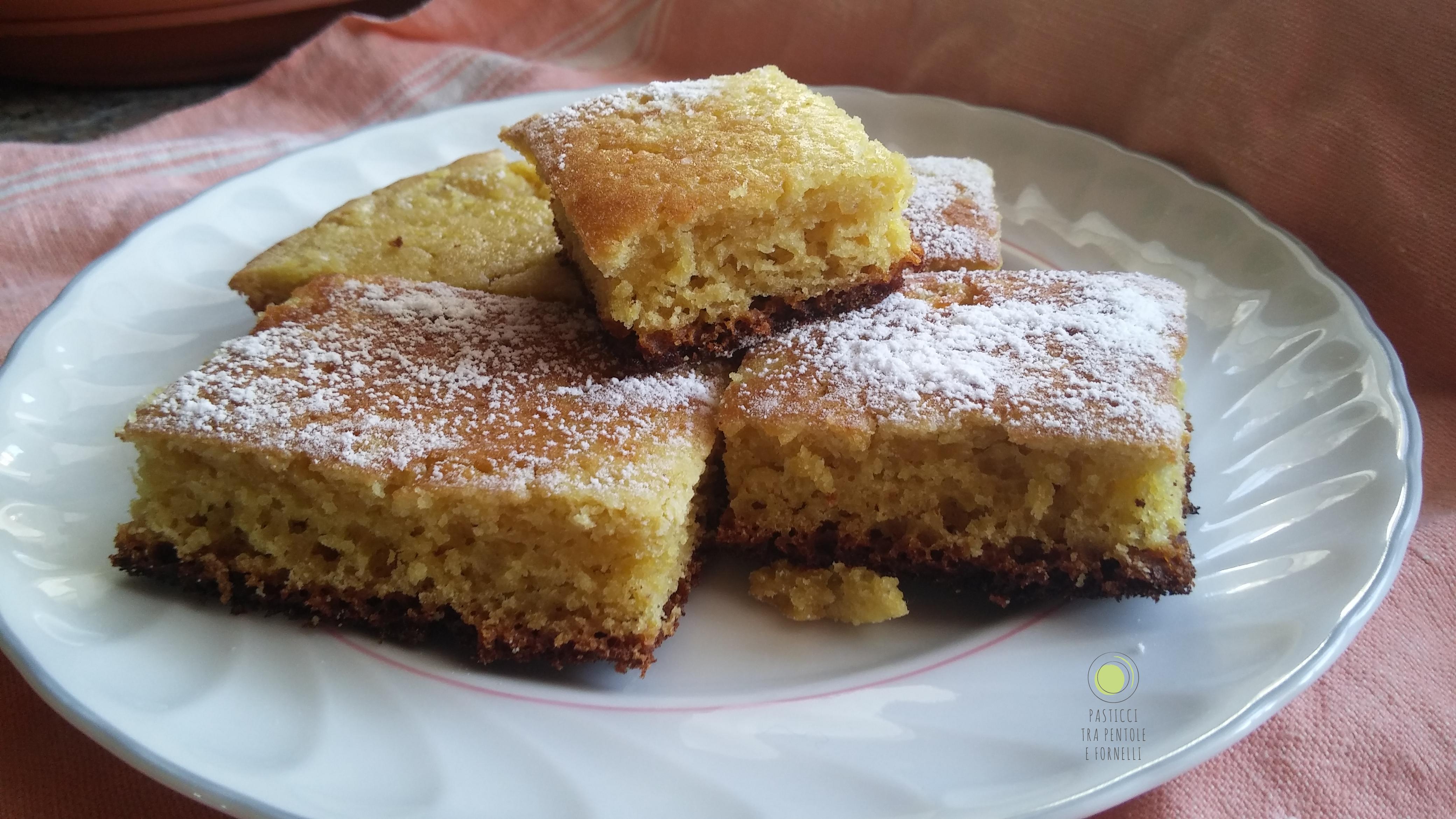 Torta al limone in padella senza glutine
