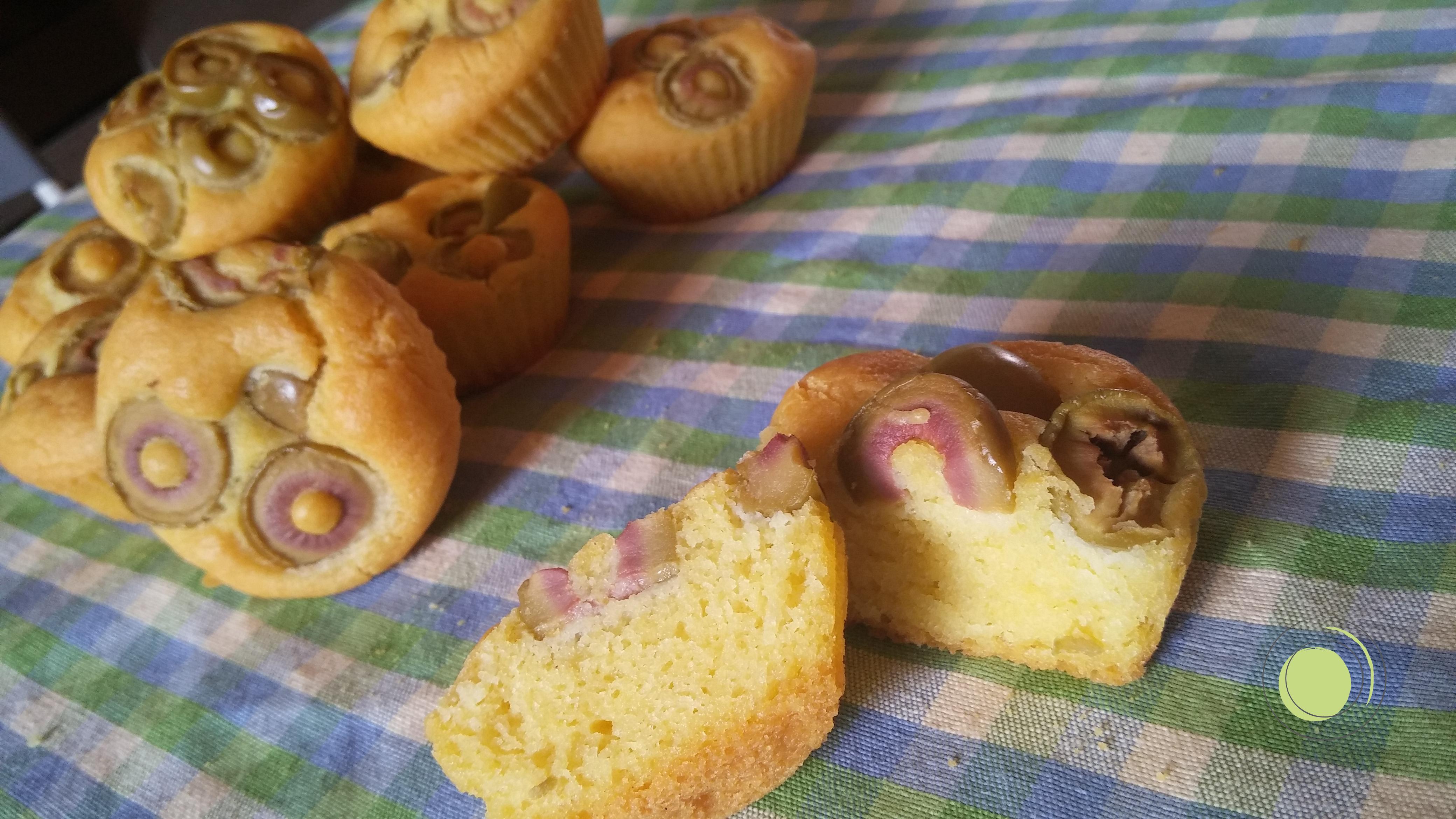 Muffin salati alle olive senza glutine e latte