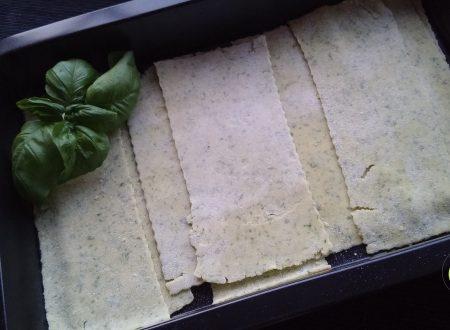 Pasta fresca per lasagne al basilico senza glutine