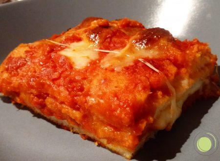 Lasagne di pane senza glutine con ragù vegetariano