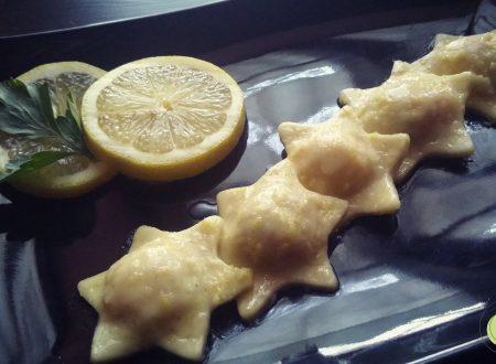 Ravioli al salmone con burro e scorza di limone senza glutine