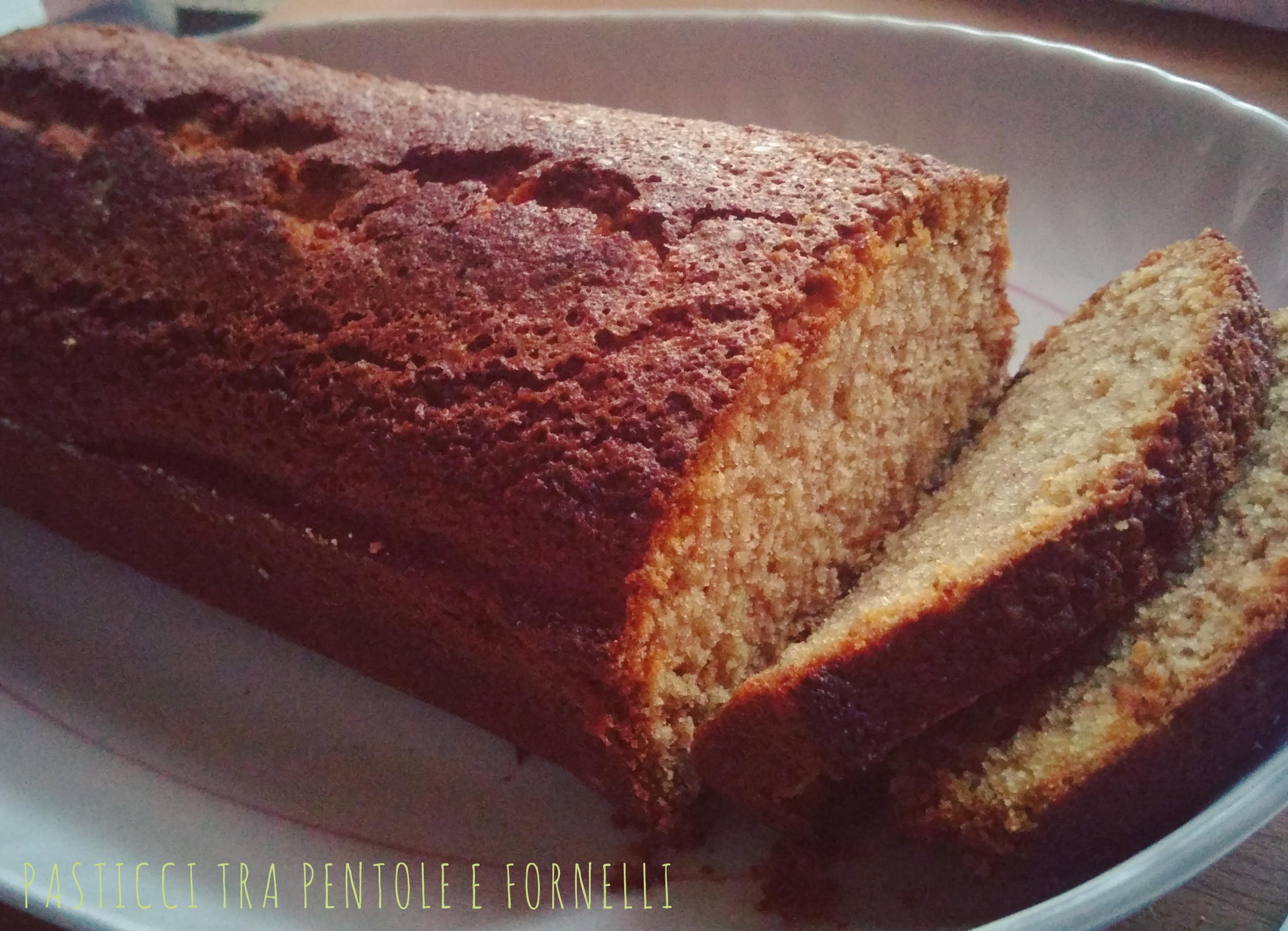 Plumcake semplice senza glutine e burro