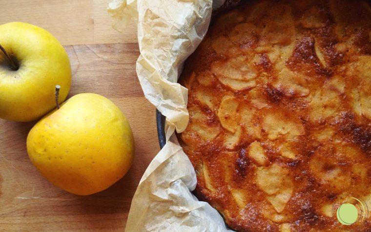 Torta di mele senza glutine cremosa