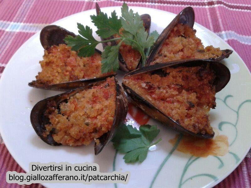 cozze gratinate al forno-blog-divertirsi in cucina-patcarchia-ricetta