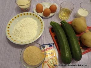 Ingredienti plumcake con zucchine e patate