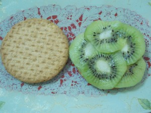 1. Kiwi sui biscotti