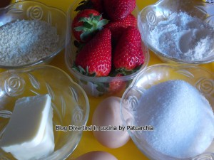 Ingredienti crostatine alla fragola