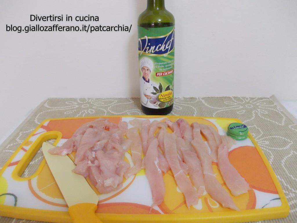 straccetti di pollo con carciofi, ricetta, blog divertirsi in cucina, patcarchia