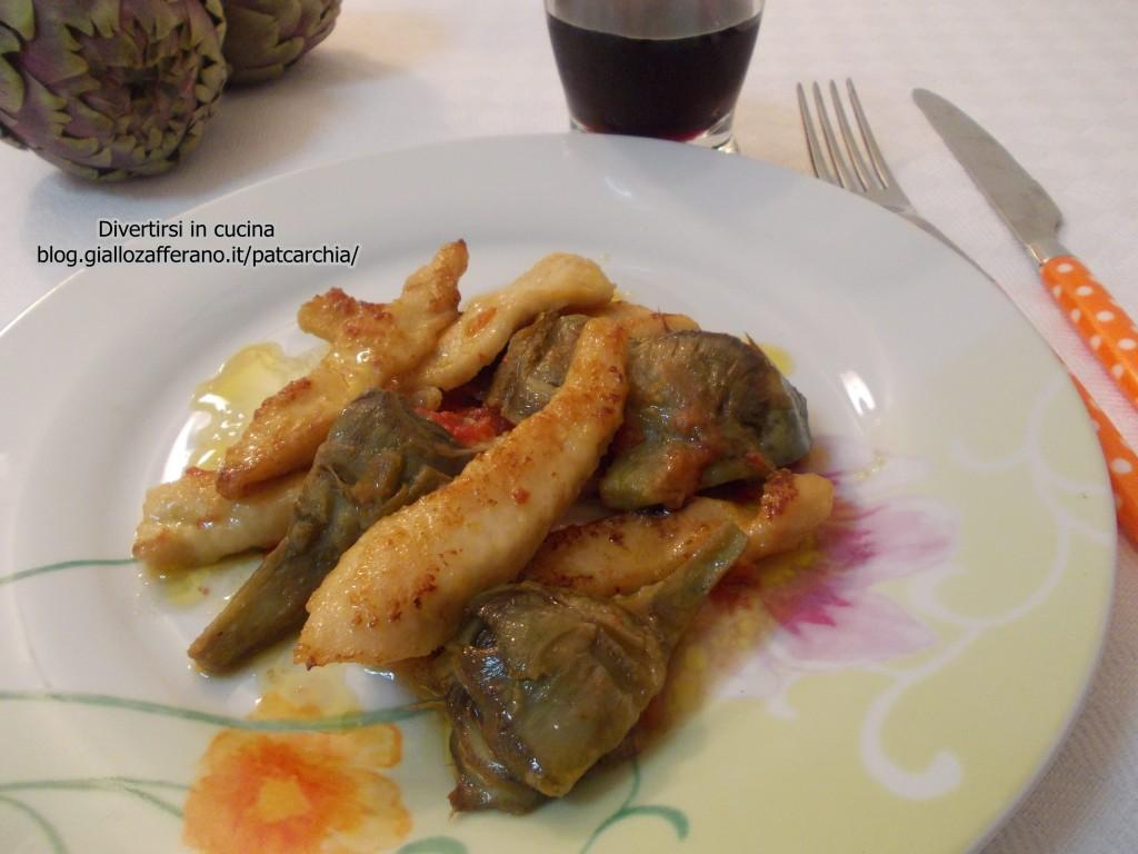 Straccetti di pollo con carciofi/ricetta/Divertirsi in cucina/patcarchia
