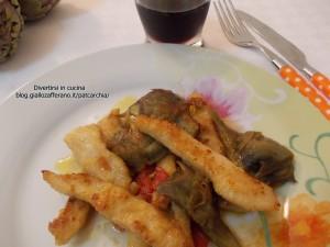 straccetti di pollo con carciofi- blog divertirsi in cucina, ricetta, patcarchia