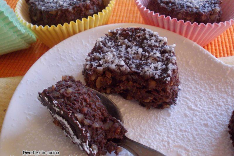Tortini al cioccolato e ricotta