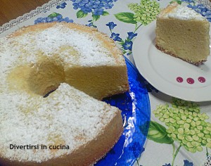 Chiffon cake ciambella americana ricetta divertirsi in cucina