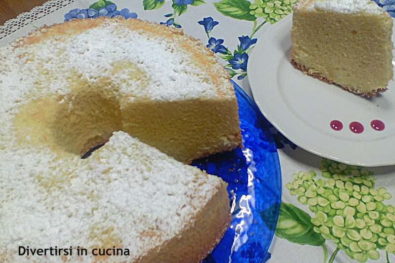 Chiffon Cake ciambella americana