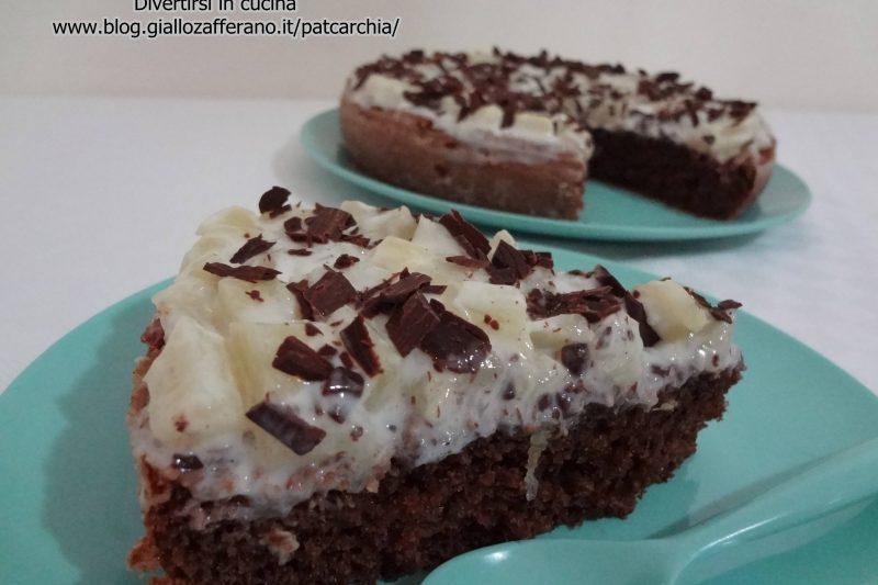Torta ananas e cioccolato