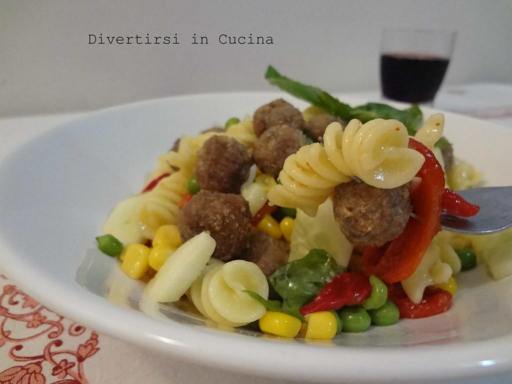 pasta fredda con verdure e polpettine divertirsi in cucina patcarchia