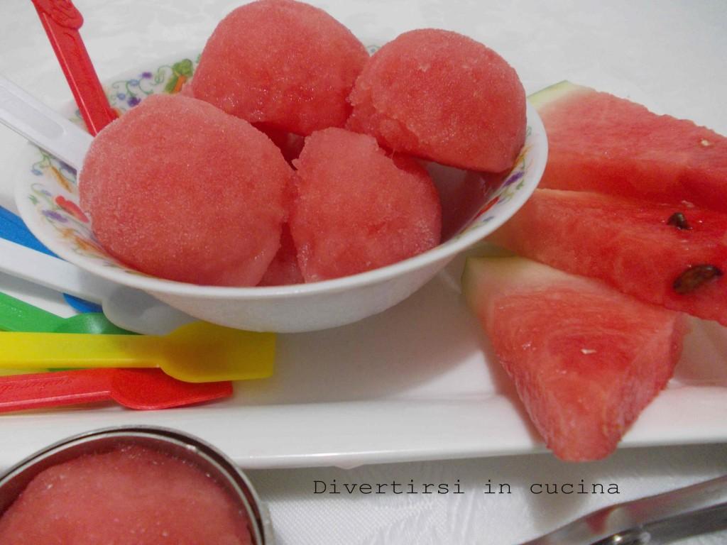 sorbetto di anguria ricetta dolce divertirsi in cucina
