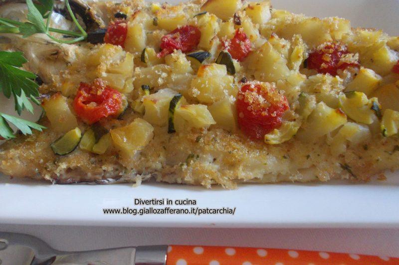 Merluzzi al forno con verdure