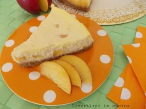 cheesecake ricotta e pesche ricetta dolce divertirsi in cucina