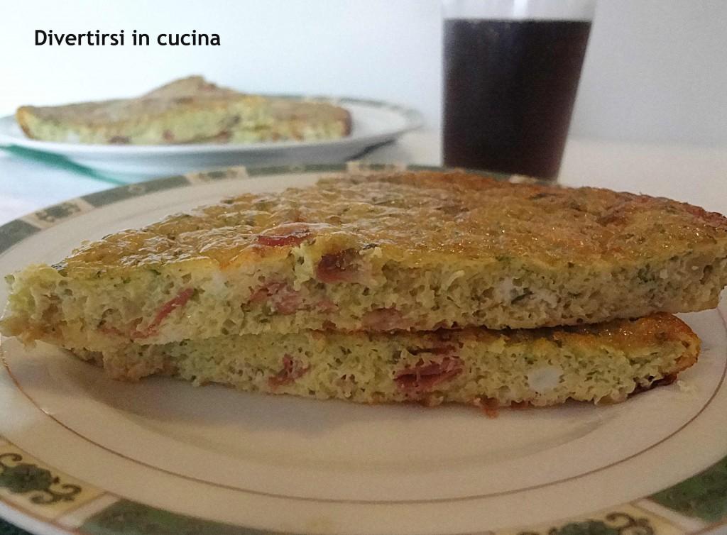 Frittata al forno con speck e zucchine ricetta divertirsi in cucina