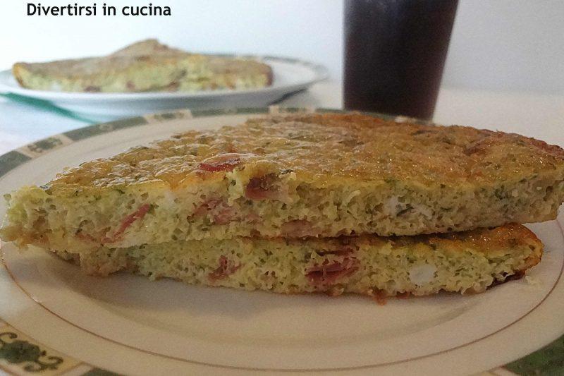 Frittata al forno con speck e zucchine