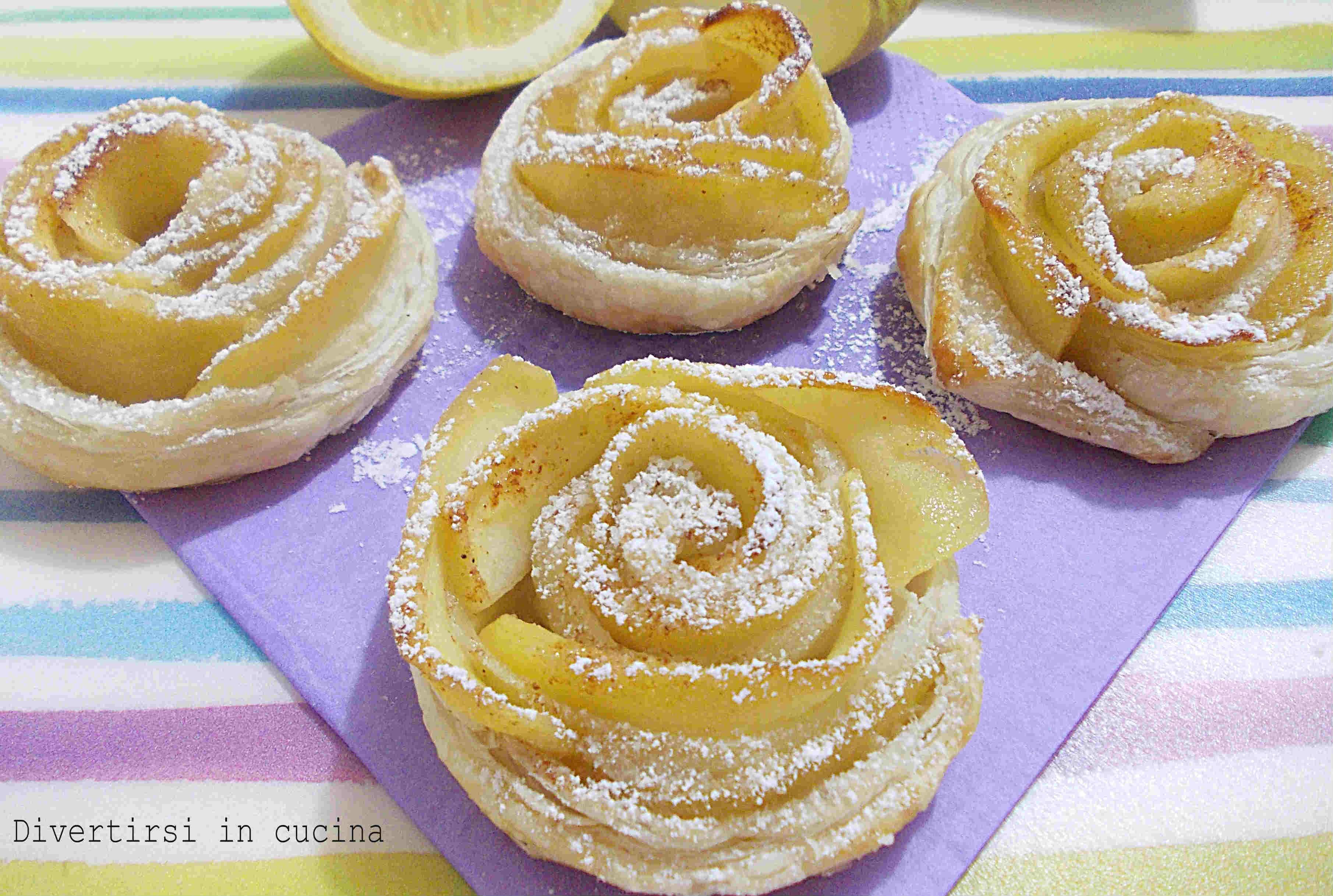 rose di mele con pasta sfoglia | divertirsi in cucina - Pasta Veloce Da Cucinare