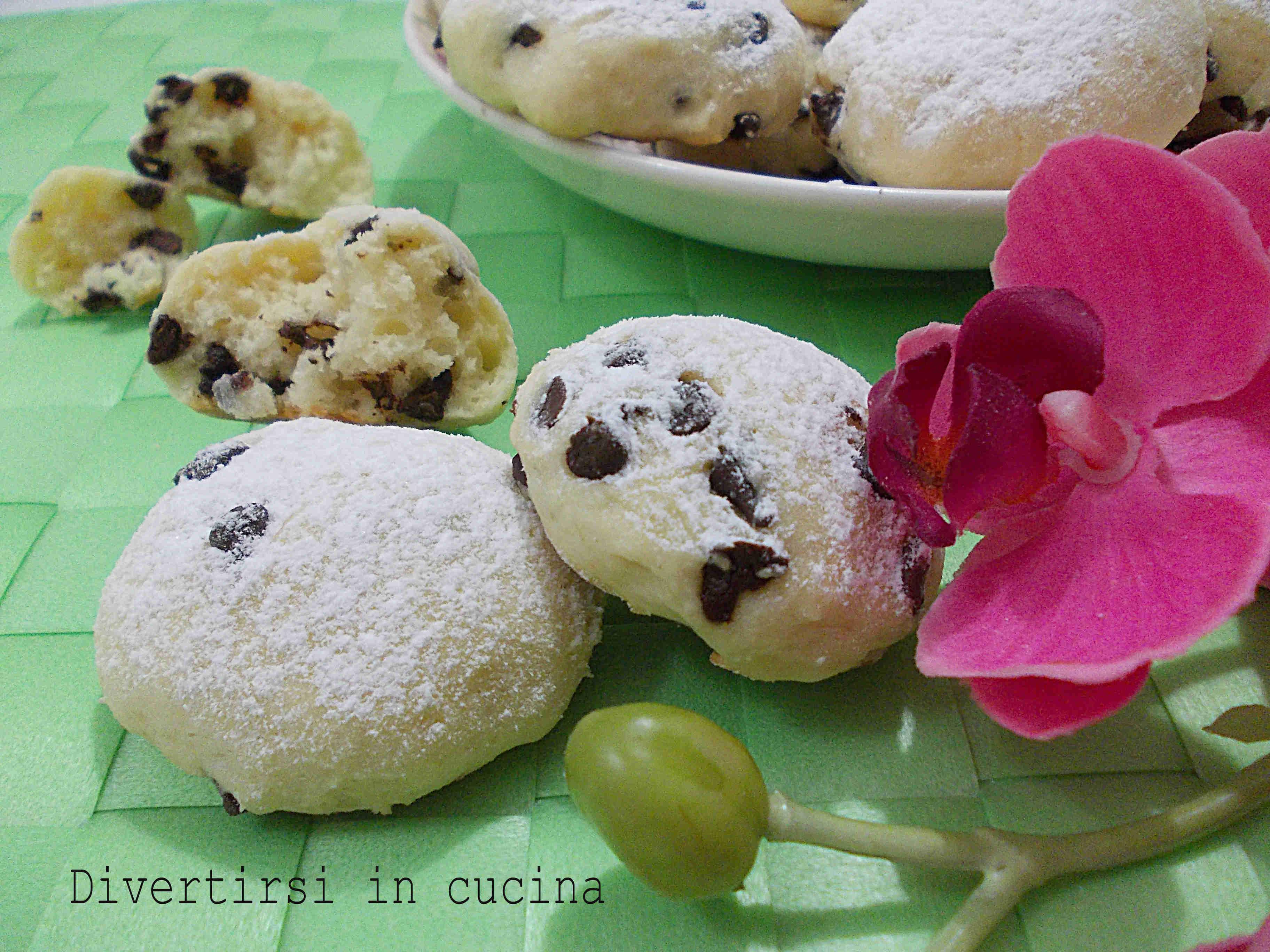 Ricetta biscotti di ricotta e gocce di cioccolato Divertirsi in cucina