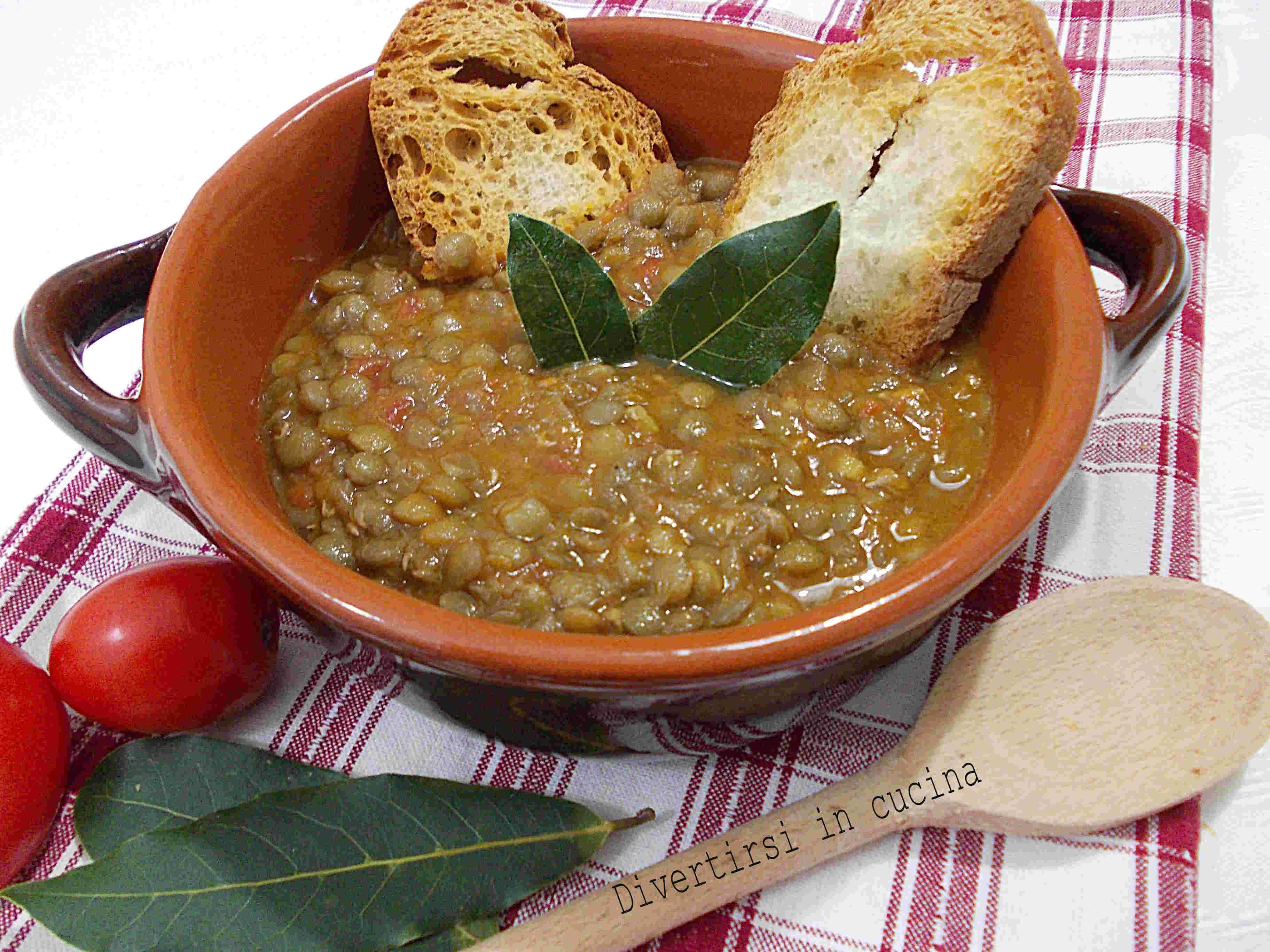 Ricetta Lenticchie Senza Pomodoro.Lenticchie In Umido Ricetta Semplice Divertirsi In Cucina