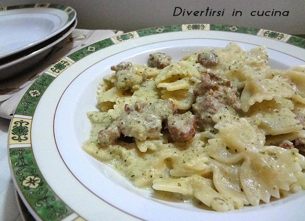 Ricetta pasta broccoli salsiccia e Philadelphia Divertirsi in cucina