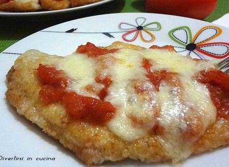 Cotolette al forno con pomodoro e mozzarella