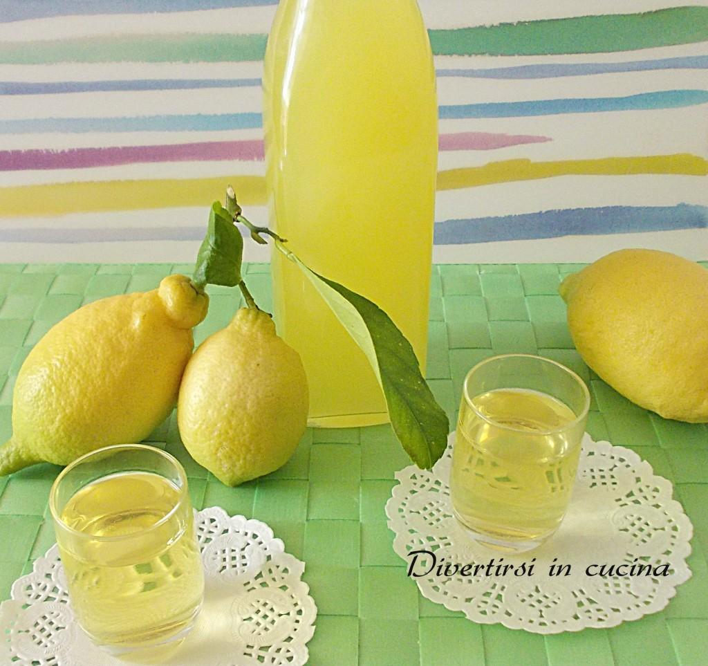 Ricetta limoncello fatto in casa Divertirsi in cucina