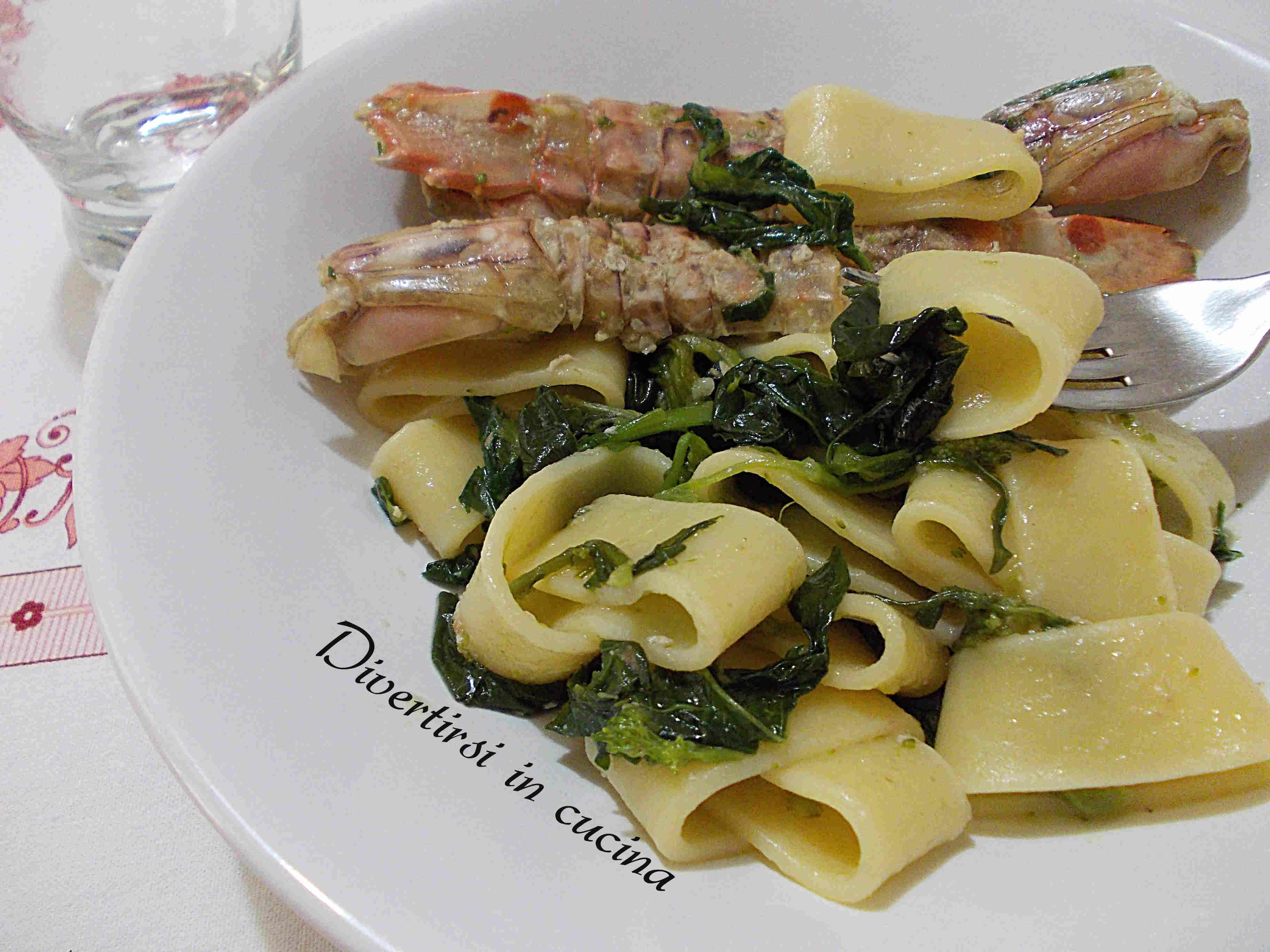 pasta con rape e canocchie   divertirsi in cucina - Cucinare Le Canocchie