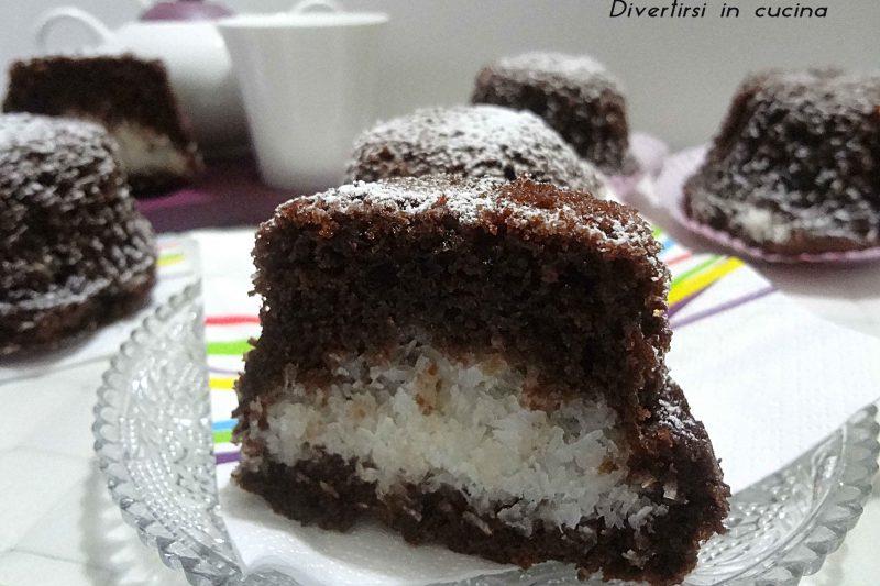 Muffin al cacao e cocco