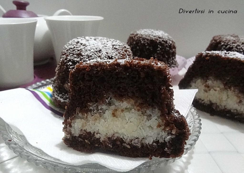 Ricetta muffin cacao e cocco Divertirsi in cucina