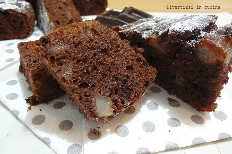 Torta pere e cioccolato senza burro