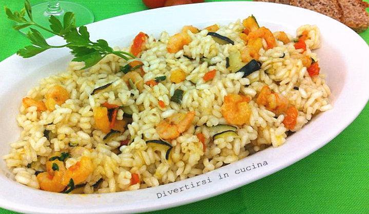 Ricetta risotto zucchine e gamberetti Divertirsi in cucina