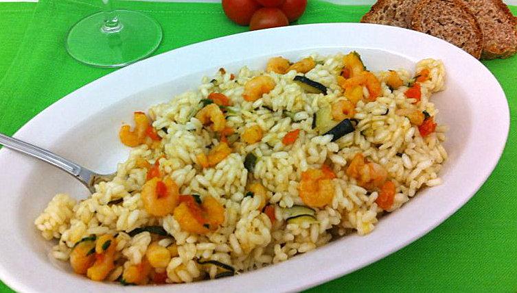 Ricetta risotto zucchine gamberetti Divertirsi in cucina