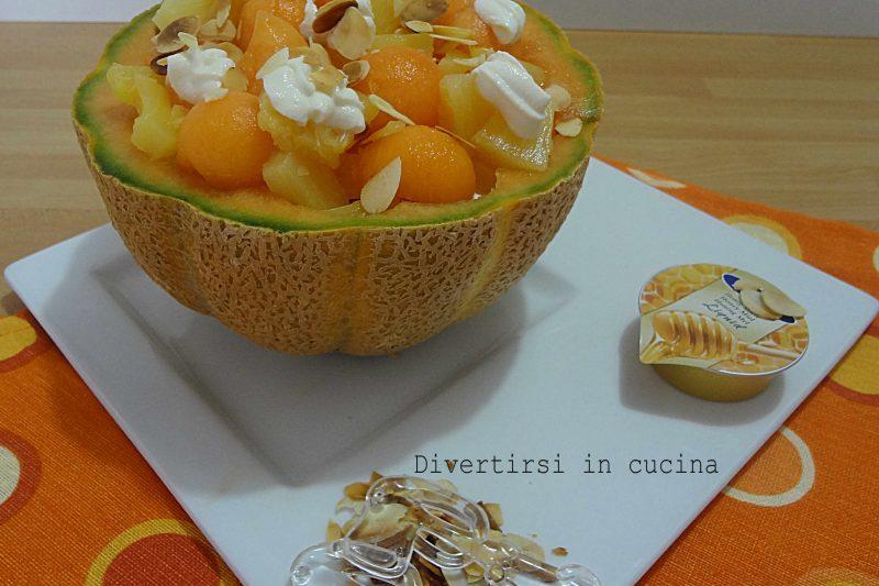 Cestini di melone e ananas