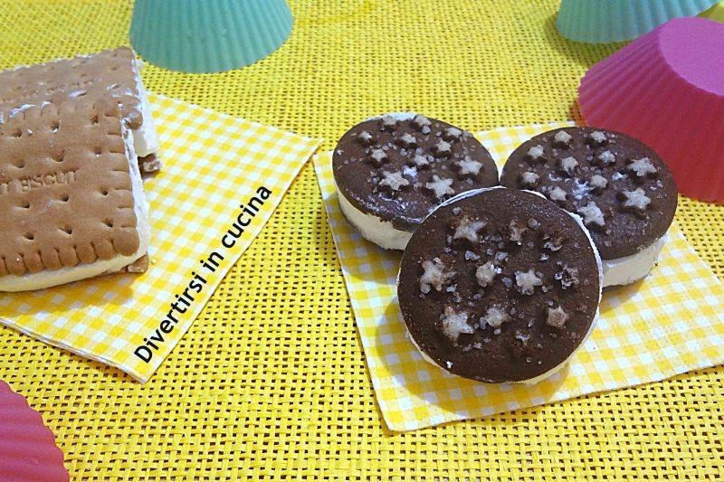 Biscotti gelato con panna e mascarpone