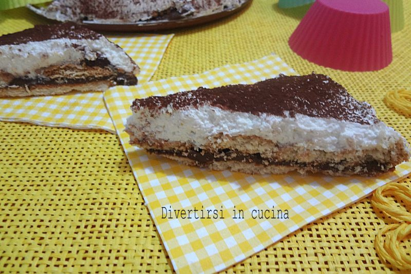Torta panna e Nutella senza cottura