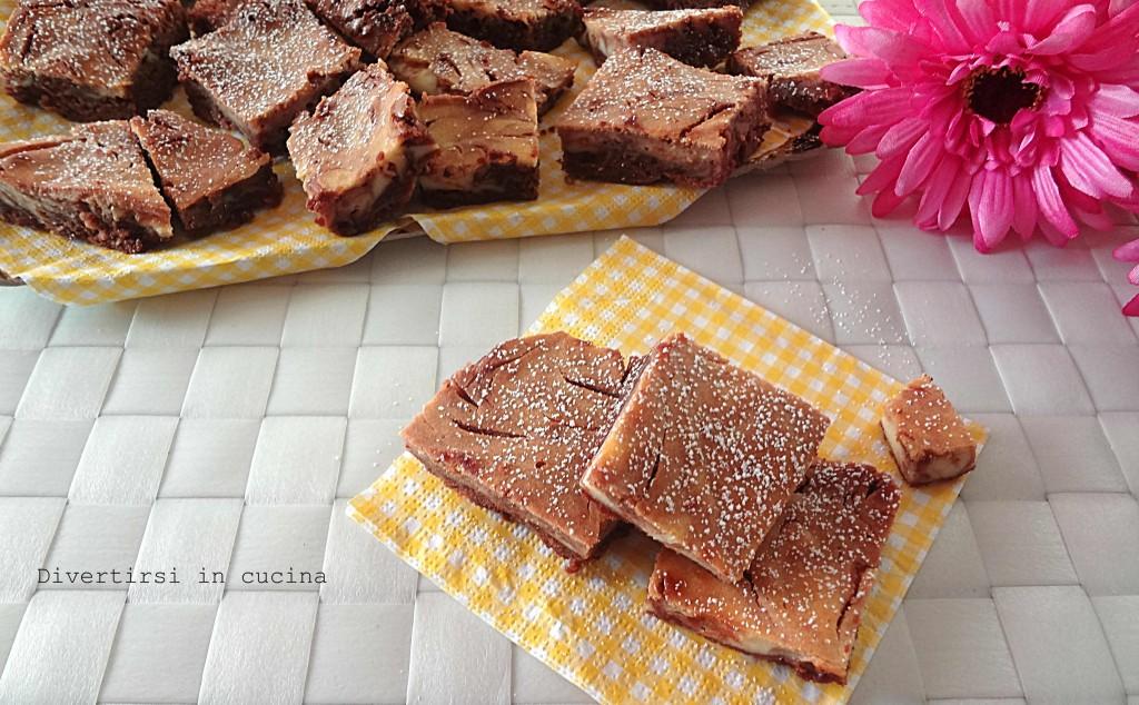 Ricetta quadrotti di ricotta al cioccolato Divertirsi in cucina